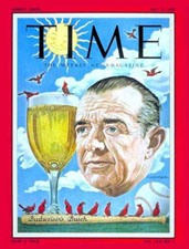 Gussie Busch on cover of Time Magazine