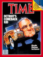 lee Iacocca on cover of TIME Magazine