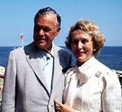 Estee Lauder and her husband