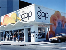 The first Gap store in San Franciso