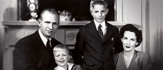 J.W. Marriott with his family