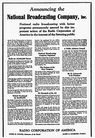 Announcing National Broadcasting Company